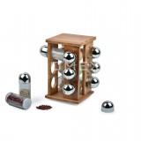 Homex Revolving Spice Rack with 12pcs Glass Jars