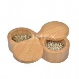 Homex Double Round Spice Box