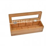 Homex Bamboo Jewelry and Tea Box
