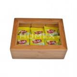 Homex Bamboo Tea Caddy
