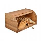 Homex Bamboo Bread Bin