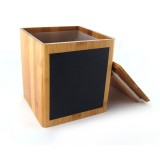 Homex Bamboo Canister with Blackboard