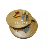 Homex Bamboo Cheese Set