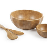 Homex Scalloped Bamboo Bowl