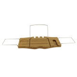 Homex Bamboo Bathtub Caddy with Extending Sides