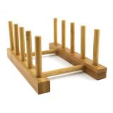 Homex Bamboo Plate Rack