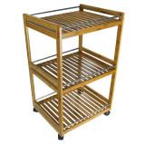 Homex Bamboo Kitchen Carts