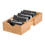 Homex Bamboo Expandable Card Holder