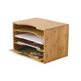 Homex Bamboo File Organizer