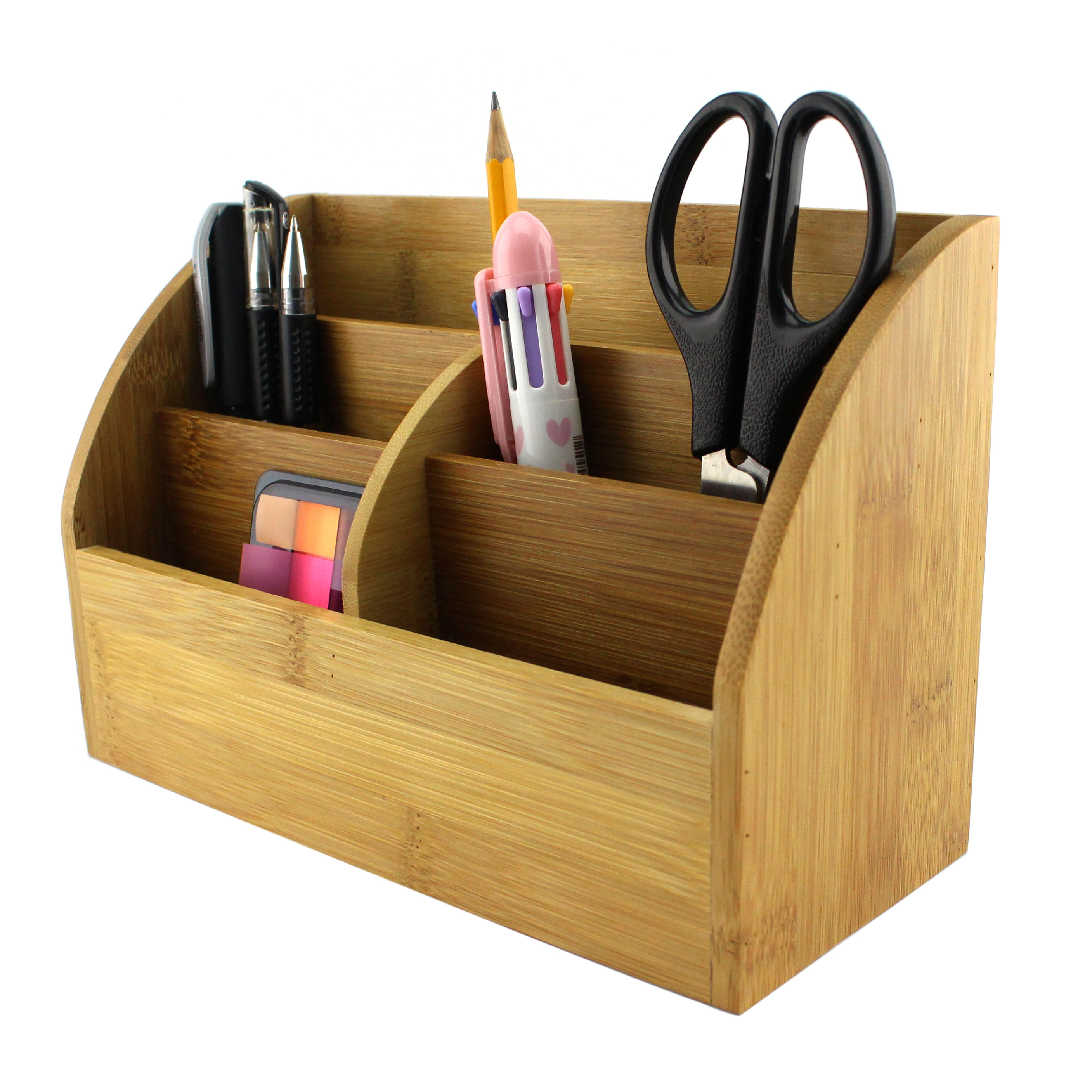 Homex bamboo desk organizer with pencil holder homex - Over the desk organizer ...