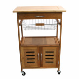 Homex Bamboo Kitchen Trolley