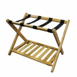 Homex Bamboo Folding Luggage Rack