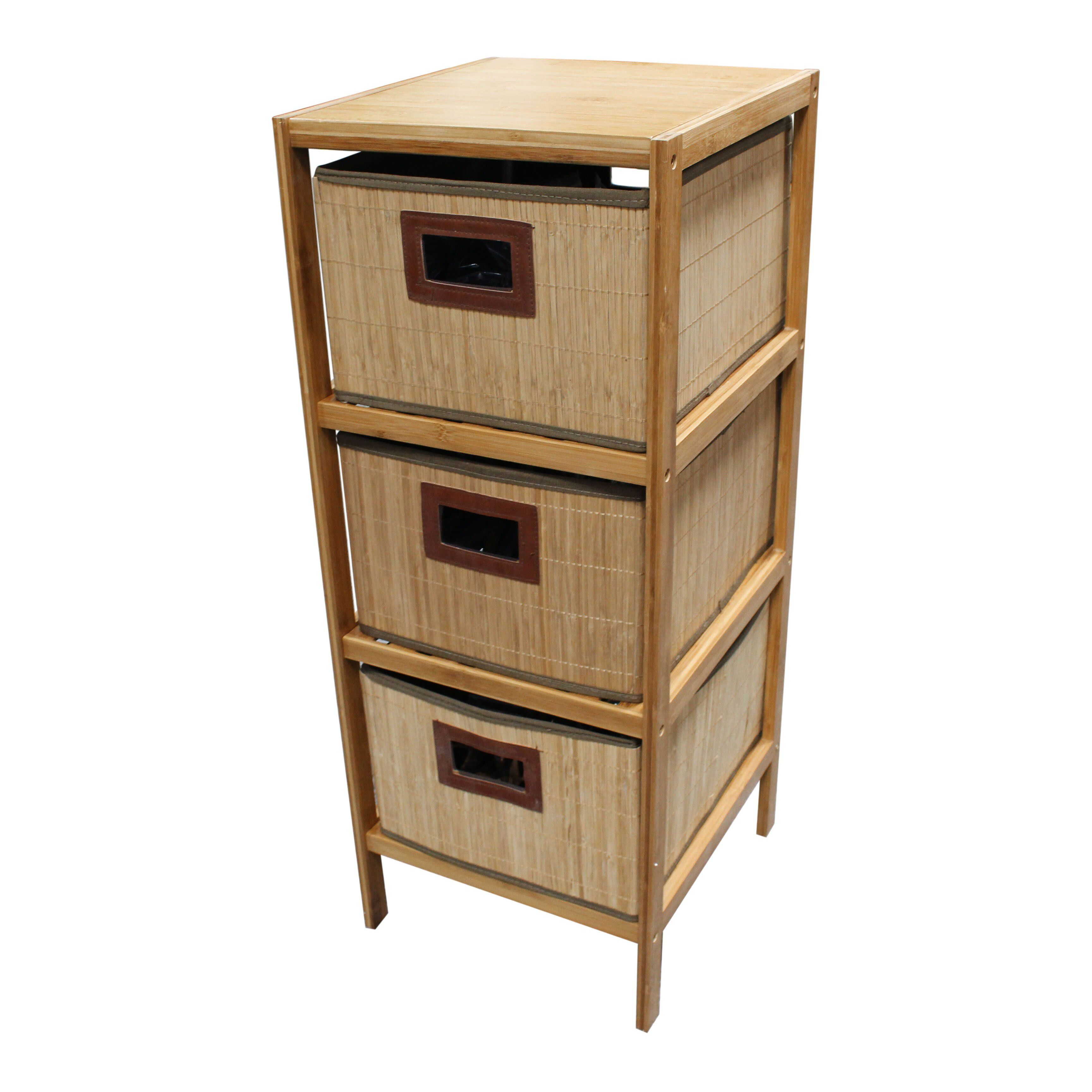 tier neutral pin living bamboo simple shelf