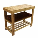 Homex Bamboo Shoe Bench