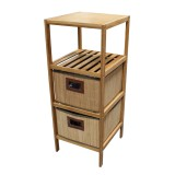 Homex Bamboo Shelf with 3 Drawers