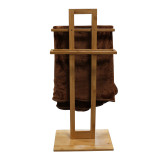 Homex Bamboo Bathroom Towel Stand