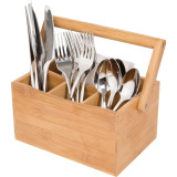 Homex Bamboo Cutlery Caddy