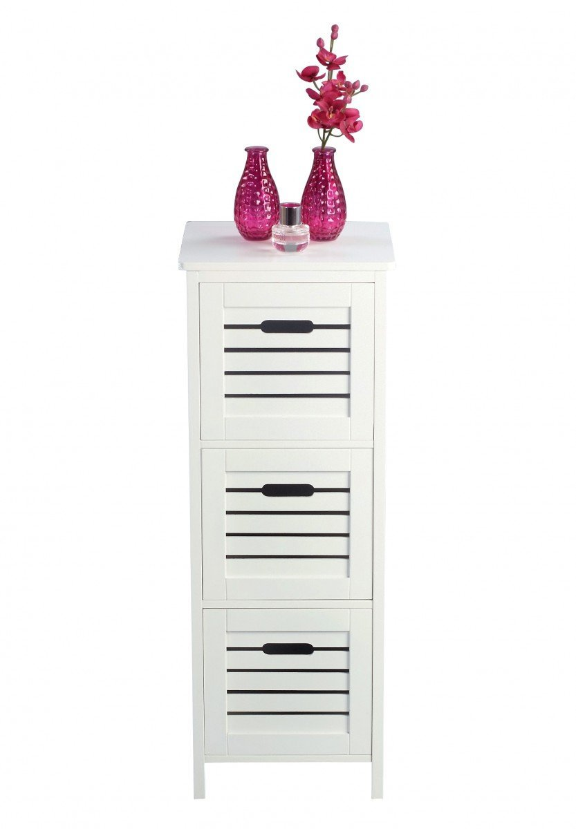 Contemporary MDF 3 Tier Shelf with drawers (1)