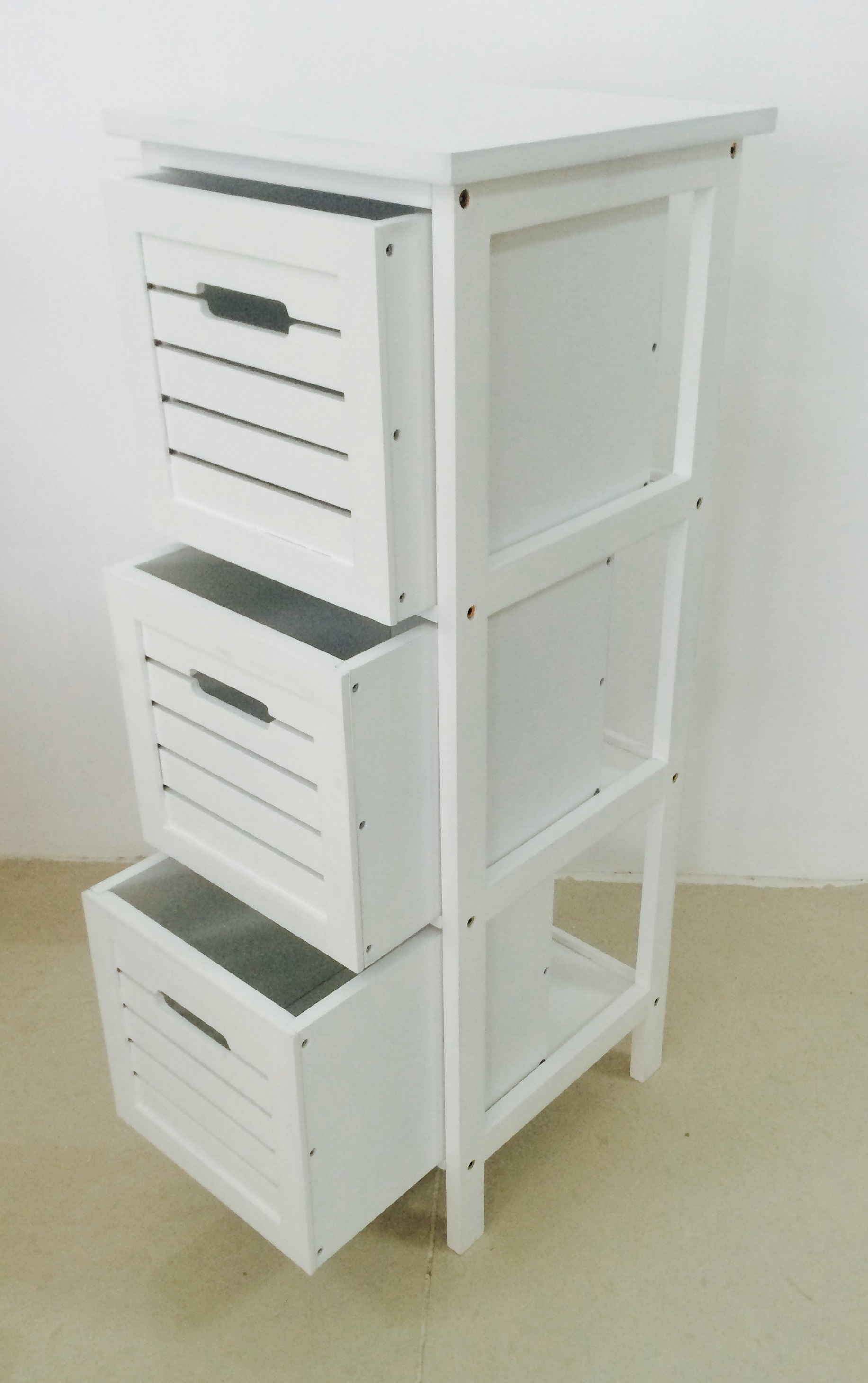 Contemporary MDF 3 Tier Shelf with drawers (3)