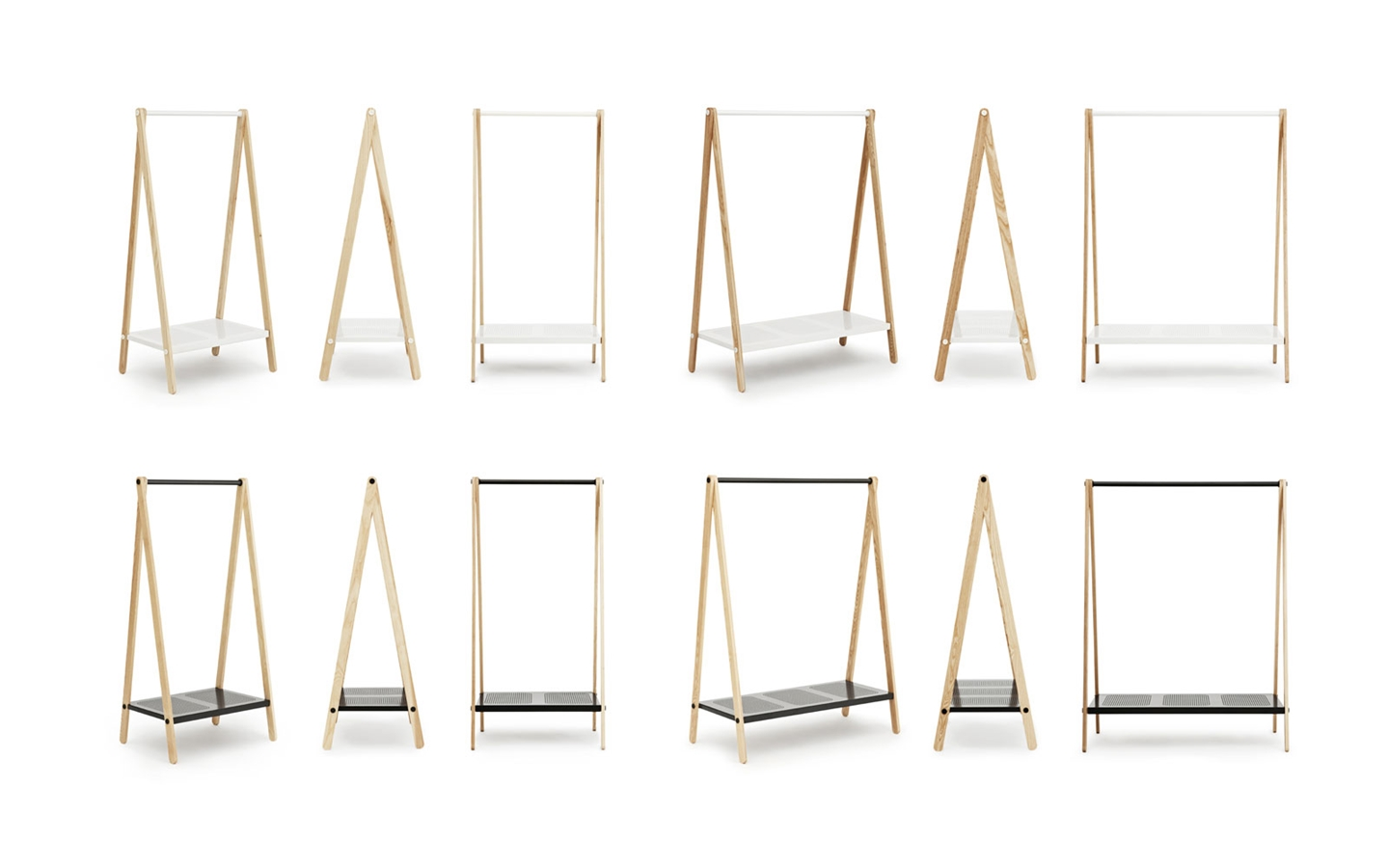 Delicate Modern Standing Clothes Rack  (1)