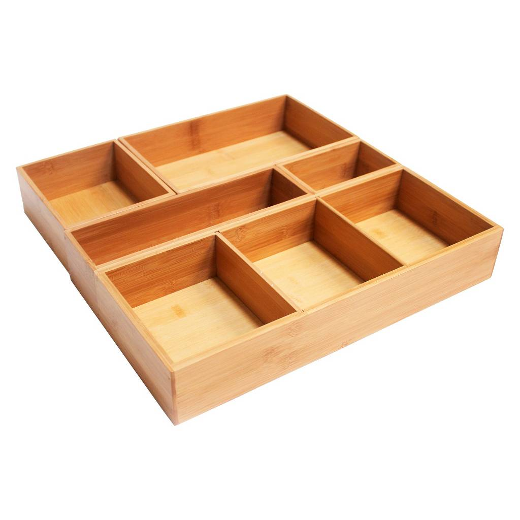 Bamboo Drawer Organizer Box Set Homex Homex