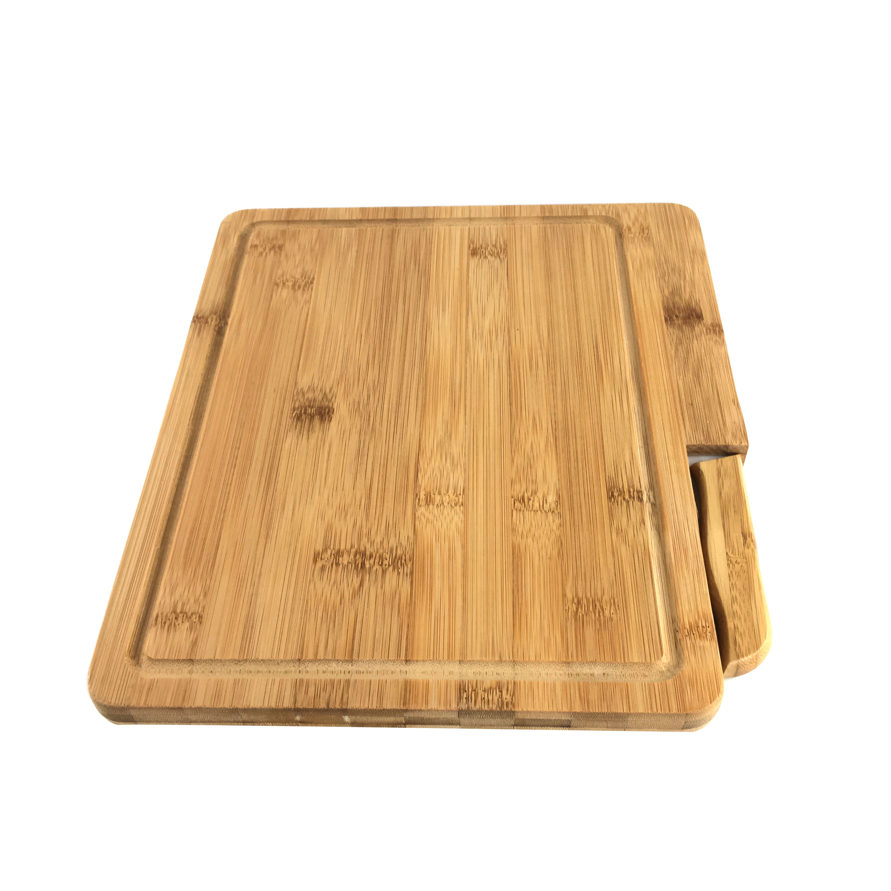Bamboo Cutting Board With Build In Knife Homex Homex